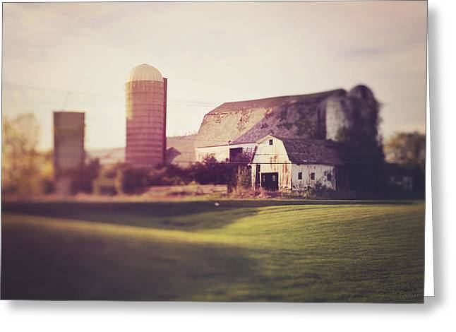 Michigan Farmhouse Greeting Cards - Rustic Barn Country Photograph Greeting Card by Elle Moss