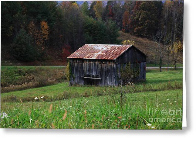 Tennessee Barn Greeting Cards - Rustic Barn Greeting Card by Kate Mitchem