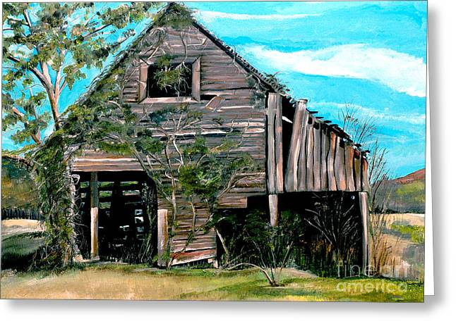 Old Barns Greeting Cards - Rustic Barn - Mooresburg - Tennessee Greeting Card by Jan Dappen