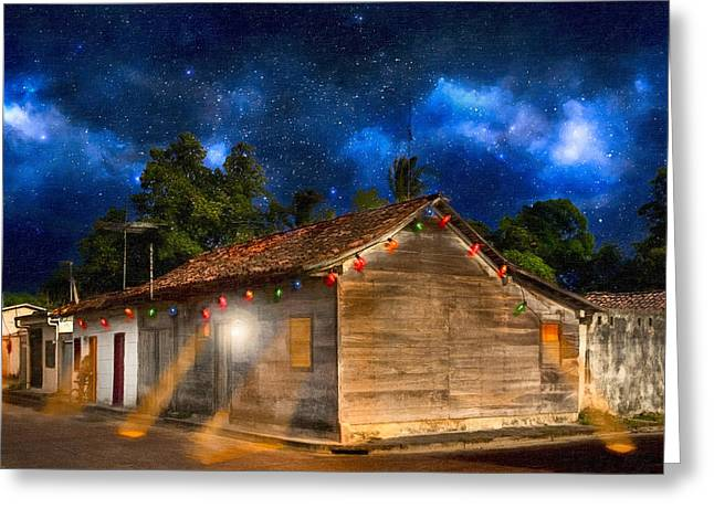 Vida Greeting Cards - Rustic Beauty of Costa Rica At Night Greeting Card by Mark Tisdale