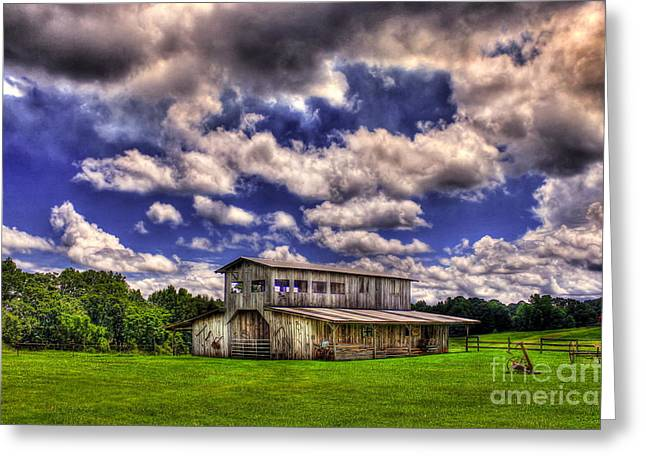 Historic Home Greeting Cards - Rustic Beauty Gray Barn Prospect Morgan County GA Greeting Card by Reid Callaway