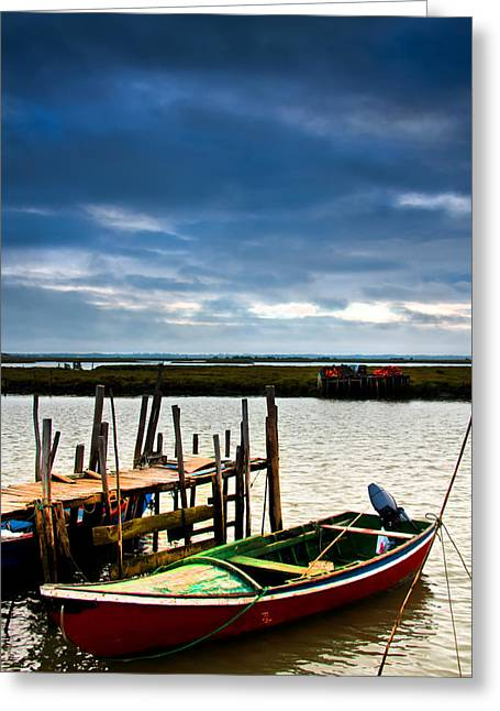 Wooden Ship Greeting Cards - Rustic boats Greeting Card by Joel Vieira