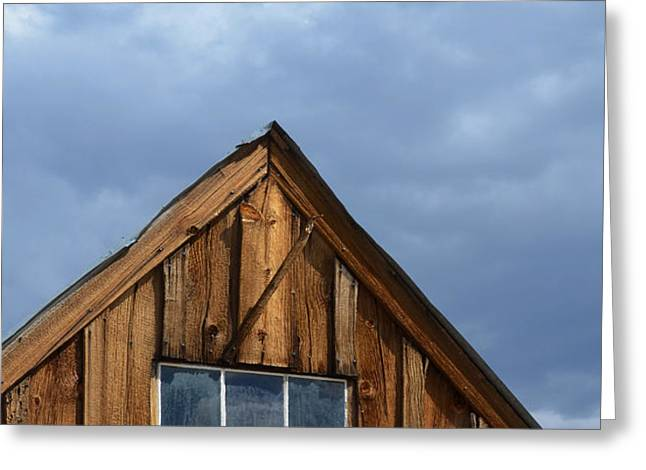 Rustic Cabin Window Greeting Card by Jill Battaglia