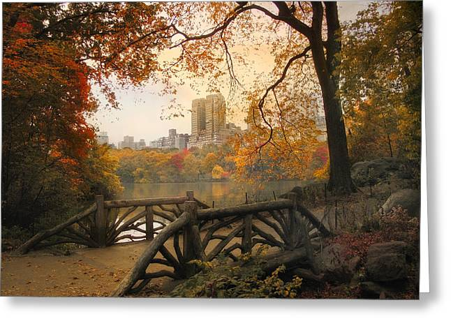 Rambling Greeting Cards - Rustic City View Greeting Card by Jessica Jenney