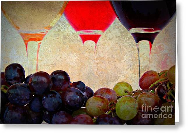 Pinot Digital Art Greeting Cards - Rustic Greeting Card by Clare Bevan