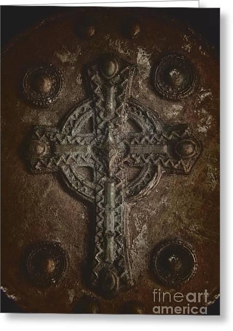 Rustic Cross Greeting Card by Margie Hurwich
