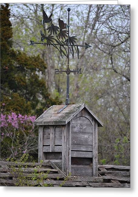Weathervane Greeting Cards - Rustic cupola Greeting Card by Bill Wilcox