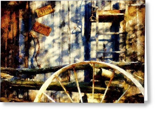 Rustic Decor Greeting Card by Janine Riley