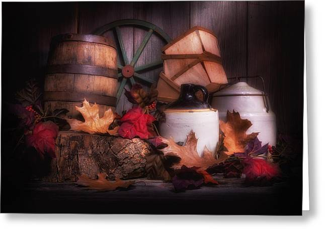 Rustic Fall Still Life Greeting Card by Tom Mc Nemar