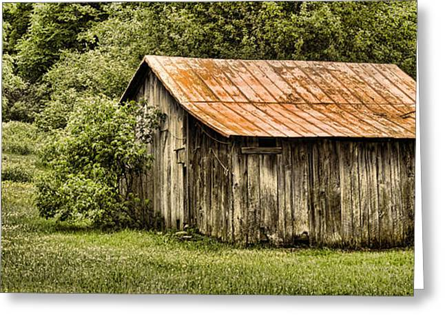 Tn Barn Greeting Cards - Rustic Greeting Card by Heather Applegate