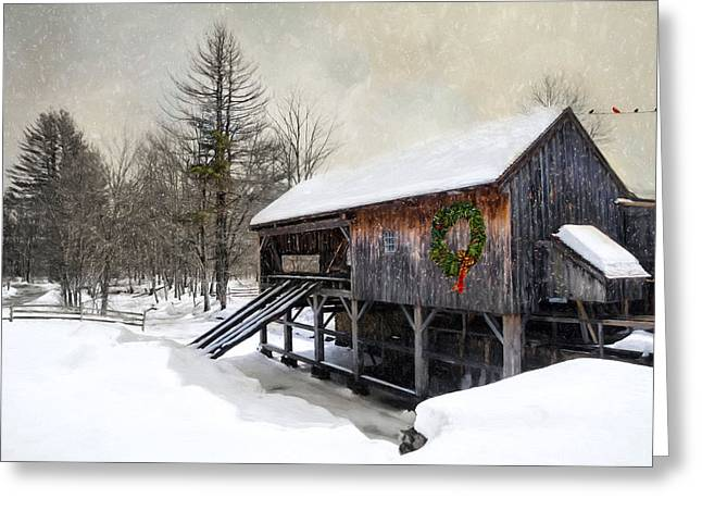 Robin-lee Greeting Cards - Rustic Holiday Greeting Card by Robin-lee Vieira
