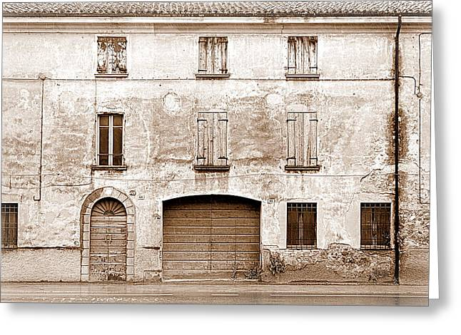 Squalid Greeting Cards - Rustic Italian Greeting Card by Valentino Visentini
