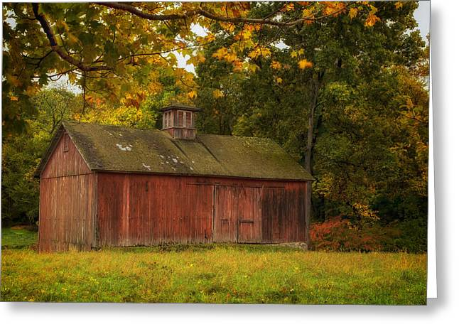 Cupula Greeting Cards - Rustic Kent Hollow Barn Greeting Card by John Vose