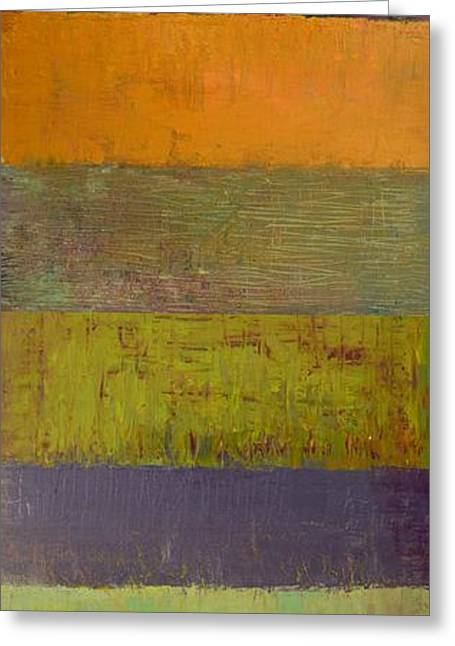 Geometric Effect Greeting Cards - Rustic Layers 4.0 Greeting Card by Michelle Calkins