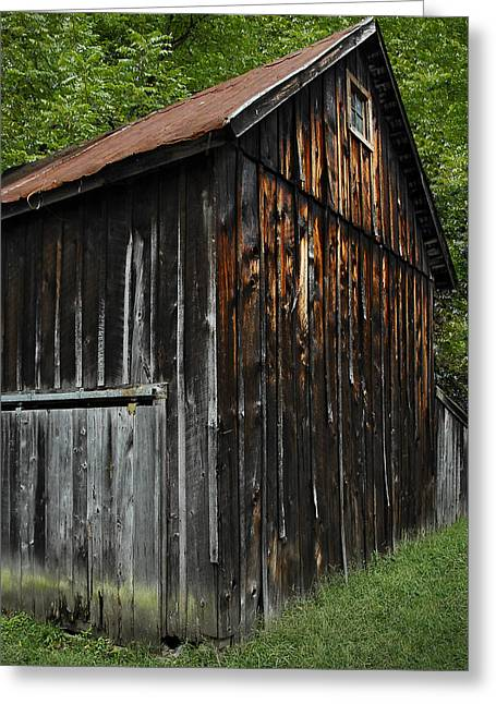 Wood Shed Greeting Cards - Rustic Greeting Card by Murray Bloom