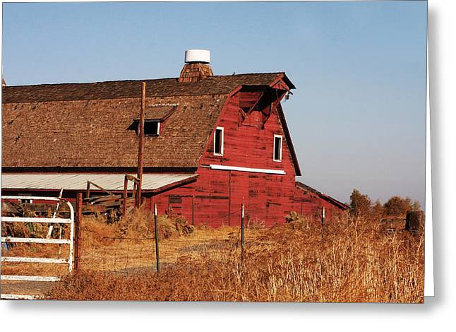 Outbuildings Greeting Cards - Rustic Red Barn Greeting Card by Art Block Collections