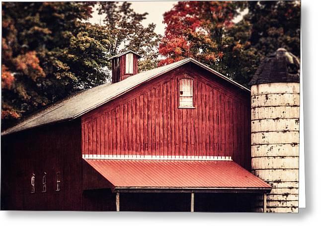 Pennsylvania Barns Greeting Cards - Rustic Red Barn in Pennsylvania Greeting Card by Lisa Russo