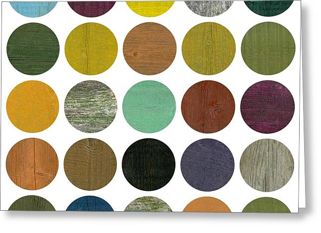Geometric Style Greeting Cards - Rustic Rounds 4.0 Greeting Card by Michelle Calkins