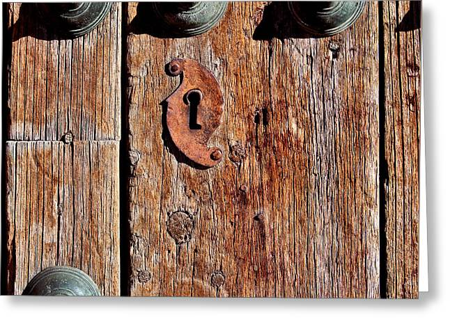 Entryway Greeting Cards - Rustic Santa Fe Door Greeting Card by Art Block Collections