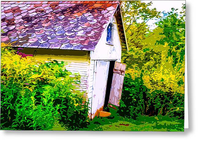 Shack Mixed Media Greeting Cards - Rustic Shed 2 Greeting Card by Brian Stevens