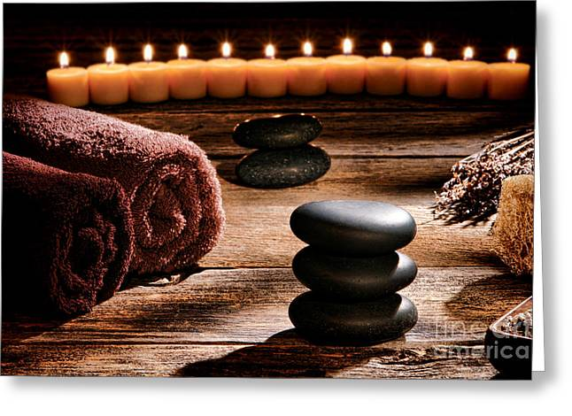 Treatment Greeting Cards - Rustic Spa Greeting Card by Olivier Le Queinec