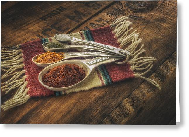 Teaspoon Greeting Cards - Rustic Spices Greeting Card by Scott Norris