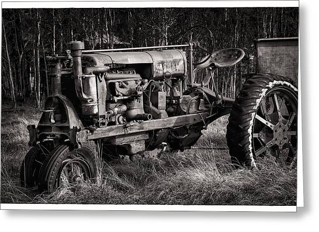 Independance Greeting Cards - Rustic Tractor Greeting Card by Gene Tewksbury