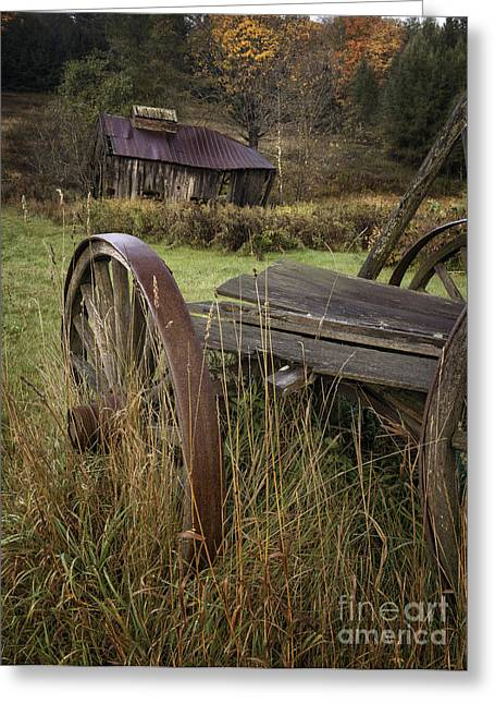 Vermont Village Greeting Cards - Rustic Vermont Charm Greeting Card by Thomas Schoeller