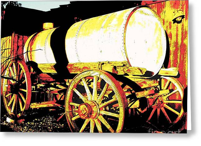 Wooden Wheels Greeting Cards - Rustic Warrior Greeting Card by Glenn McCarthy Art and Photography
