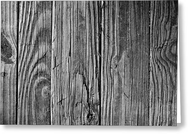 Woodworking Art Greeting Cards - Rustic Wood Grain Greeting Card by Luke Moore