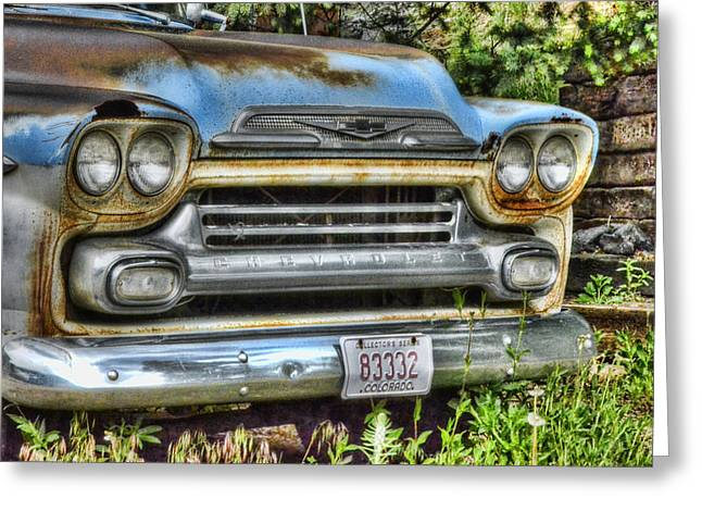 Chevy Pickup Greeting Cards - Rusting Away Greeting Card by Ken Smith