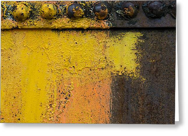 Rusting Machinery Greeting Card by John Shaw