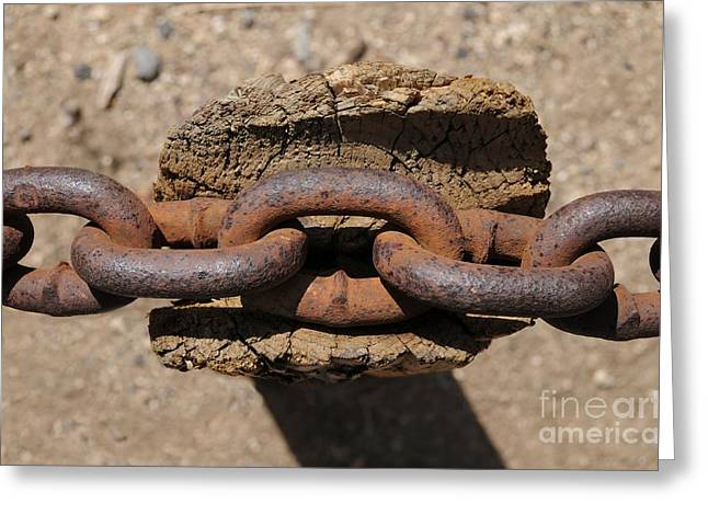 Chains Greeting Cards - Rusting Resting Greeting Card by Dan Holm