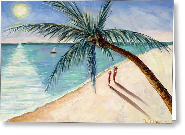 Signature Greeting Cards - Rustling Palm Greeting Card by Tilly Willis