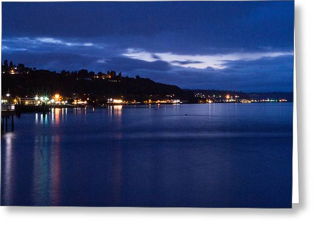 Ruston Greeting Cards - Ruston Skyline Twilight Greeting Card by Steve Garvin
