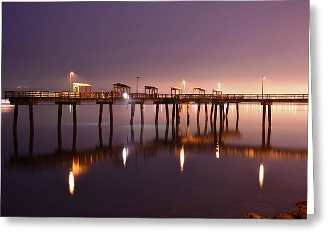 Commencement Bay Greeting Cards - Ruston Way Pier Greeting Card by Joey Negron