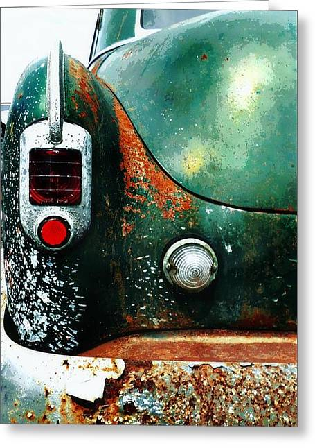 Rusted Cars Greeting Cards - Rusty and Classic Greeting Card by CJ Anderson