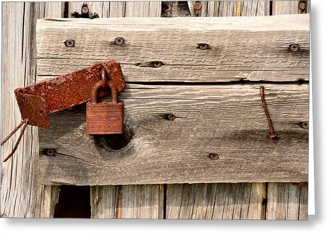 Old Barn Drawing Greeting Cards - Rusty and Old 1 Greeting Card by Jeffrey J Nagy