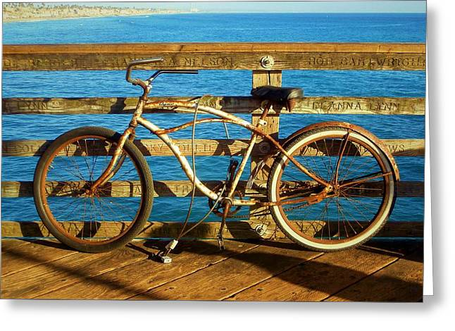 Recently Sold -  - California Ocean Photography Greeting Cards - Rusty Bicycle Greeting Card by Karyn Robinson