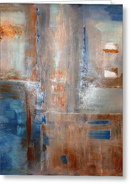 Tia Marie Mcdermid Greeting Cards - Rusty Blue Greeting Card by Tia Marie McDermid