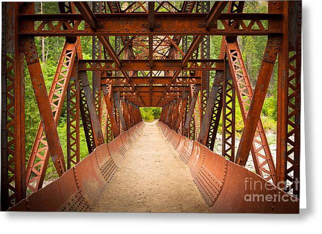Leavenworth Greeting Cards - Rusty Bridge Greeting Card by Inge Johnsson