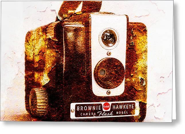 Rusty Brownie - Square Greeting Card by Jon Woodhams