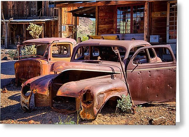 Rusty Car Greeting Cards - Rusty Cars  Greeting Card by Saija  Lehtonen