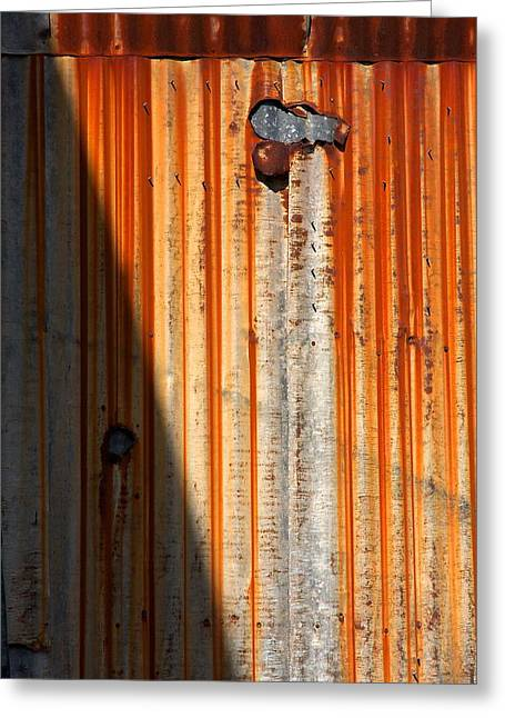 Metal Sheet Greeting Cards - Rusty Corrugated Sheeting Greeting Card by Stuart Litoff
