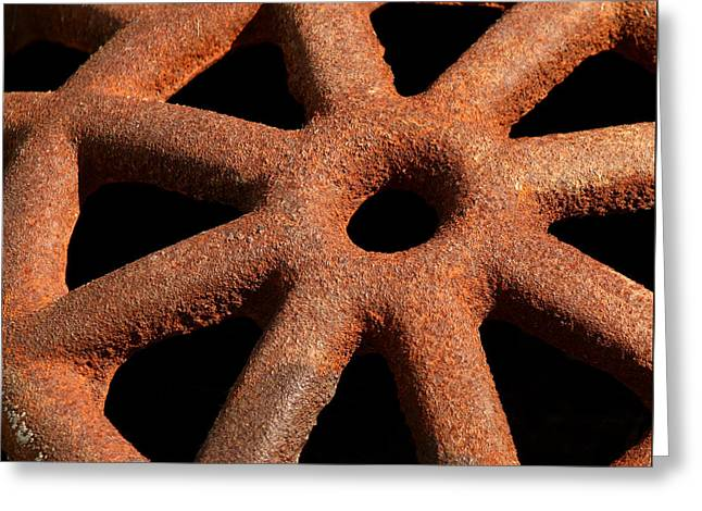 Grate Greeting Cards - Rusty Drain Grate Greeting Card by Art Block Collections