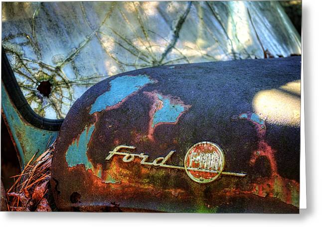 Pine Needles Greeting Cards - Rusty Ford F100 Greeting Card by Greg Mimbs