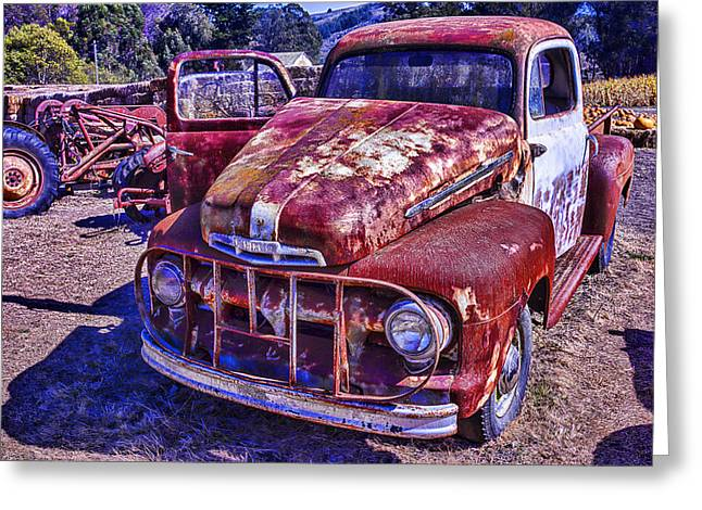 Rusty Pickup Truck Greeting Cards - Rusty Ford Greeting Card by Garry Gay