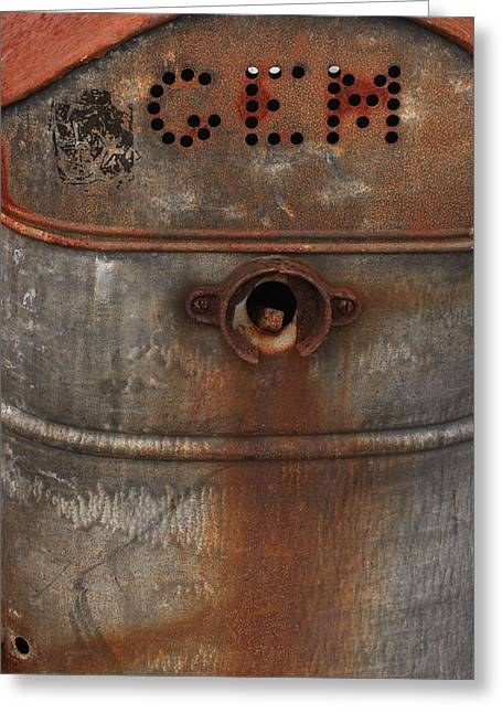 Punched Holes Greeting Cards - Rusty Gem Greeting Card by Art Block Collections