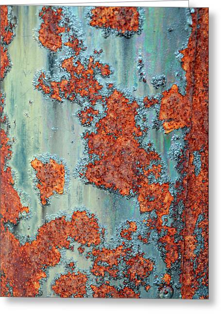 Turquoise And Rust Greeting Cards - Rusty Greeting Card by Geraldine Alexander