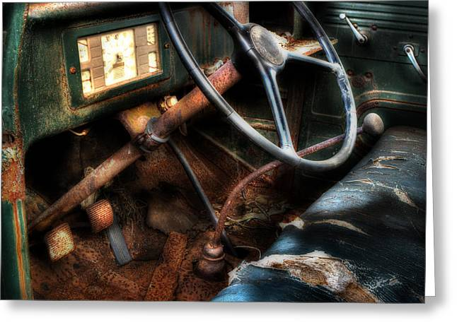 Old Trucks Greeting Cards - Rusty International Truck Greeting Card by Michael Eingle